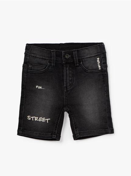 מכנסי ג'ינס קצרים גיים-בוי