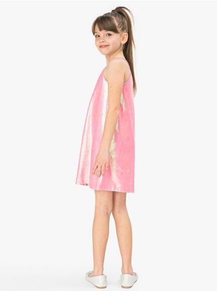 שמלת גופייה מבריקה גיים-גירל