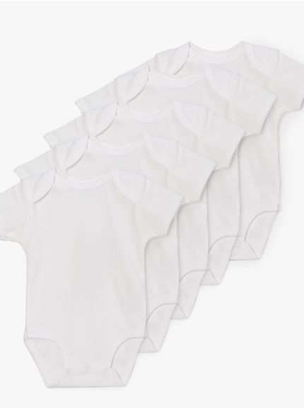 מארז 5 בגדי גוף בייבי-בייסיק