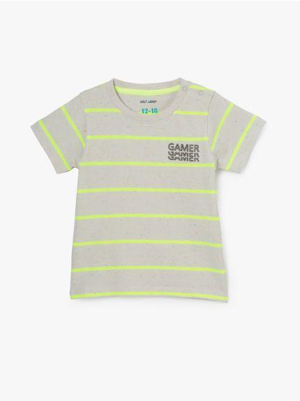חולצת טי פסים טניס-בוי