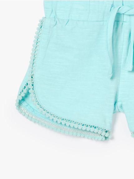 מכנסיים קצרים פונפונים בייבי-פאן