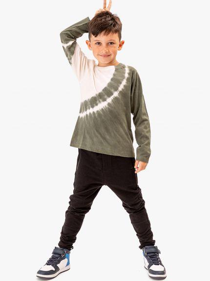 מכנסי פוטר גמישים עם רוכסנים