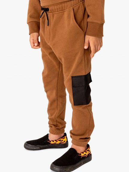 מכנסי פוטר עם כיס אריג