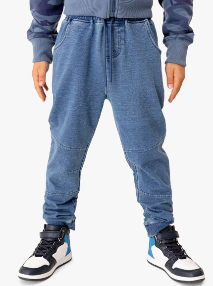 מכנסי פראנץ' טרי דמוי ג'ינס