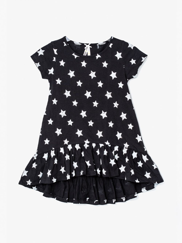 שמלת טי פרינטי סיומת פפלום