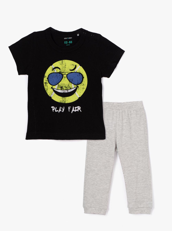 סט מכנסיים ארוכים וחולצת טי בייבי-ווינק