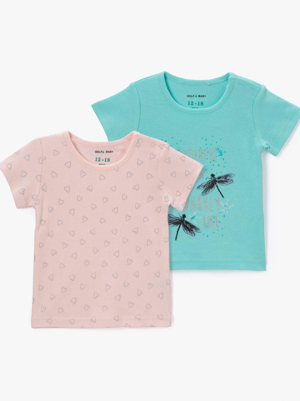 מארז 2 חולצות טי קצרות בייבי-ספרקל