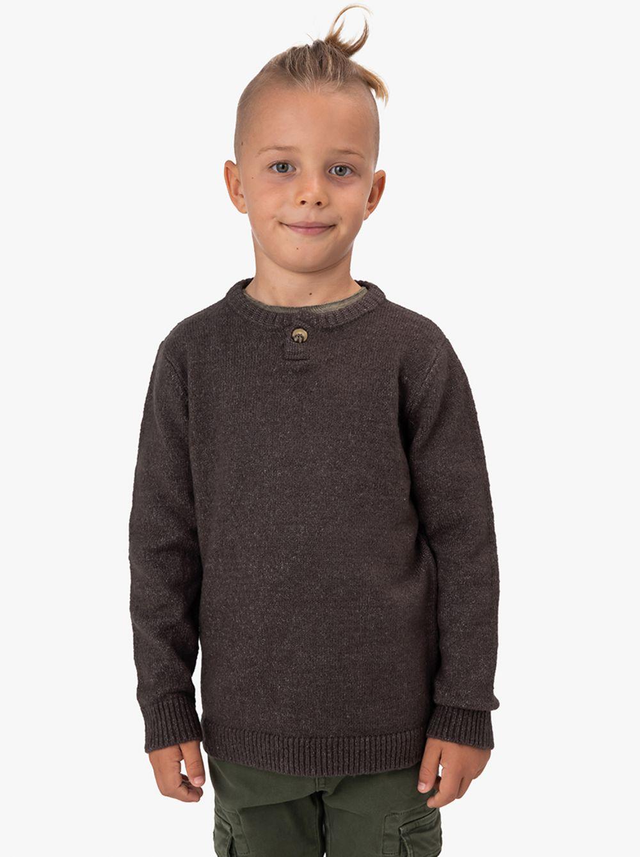 סוודר ביוטי בשילוב כפתור
