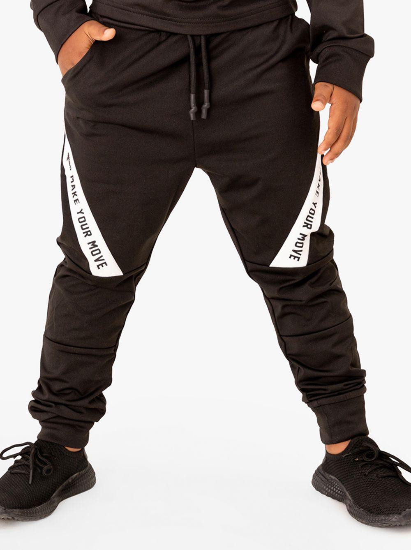 מכנסיים מבד אקטיב עם דפוס