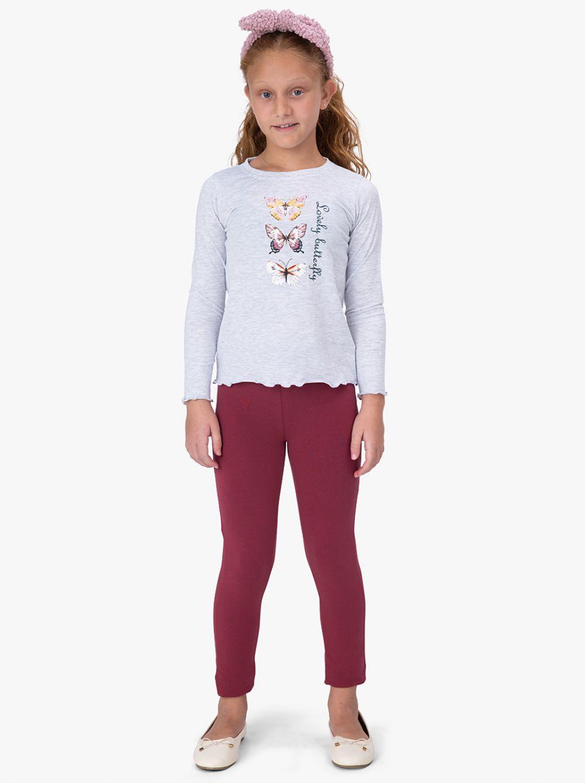 חולצת טי דפוס פרפר