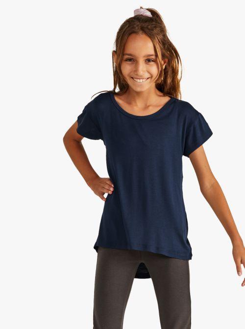 חולצת טי שרוול קצר בגזרה רחבה