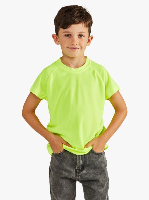 חולצת טי גזרה קלאסית בד דריי-פיט