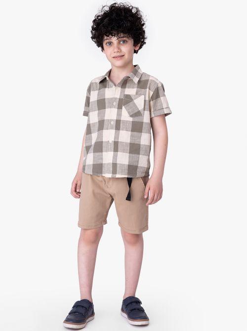 מכנסיים קצרים קוקונט בשילוב אבזם
