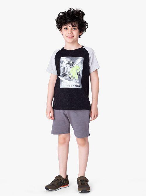 מכנסי רייס-בוי בשילוב גומי מודפס