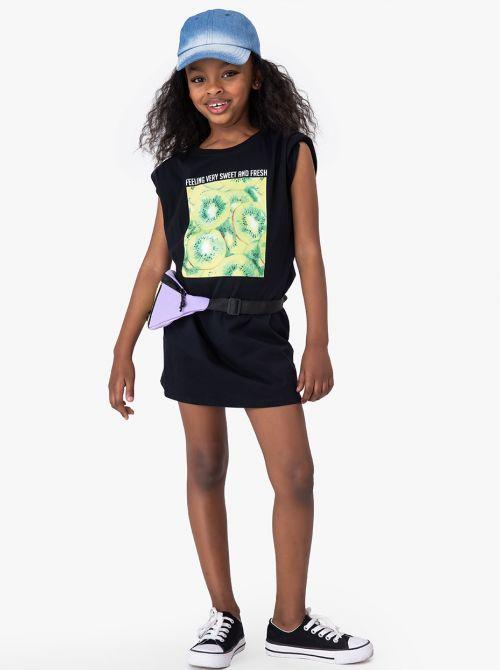 שמלת טי פרוטי-גירל בשילוב כריות כתפיים