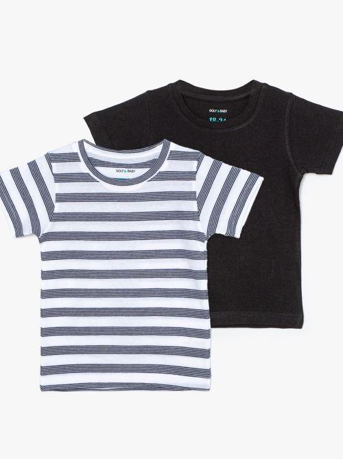מארז 2 חולצות טי סטרייפ-בייבי