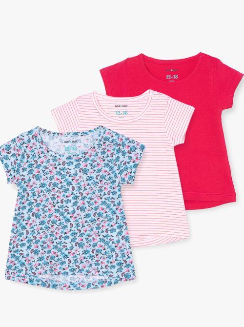 מארז 3 חולצות טי האפי-בייבי