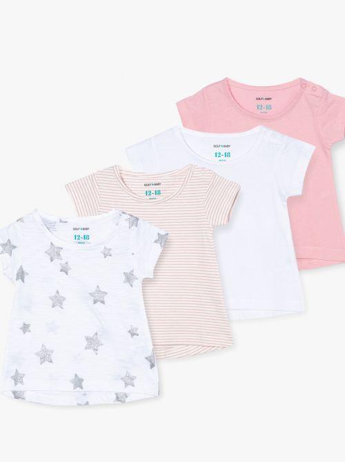 מארז 4 חולצות טי שיק-בייבי