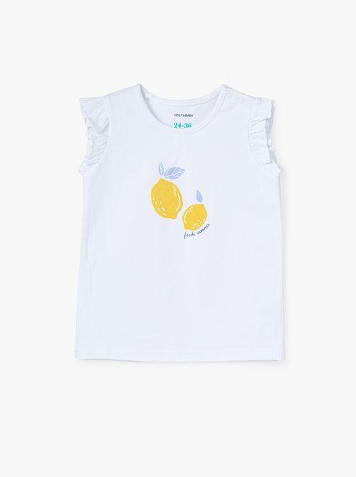 חולצת טי למון-בייבי בשילוב מלמלה