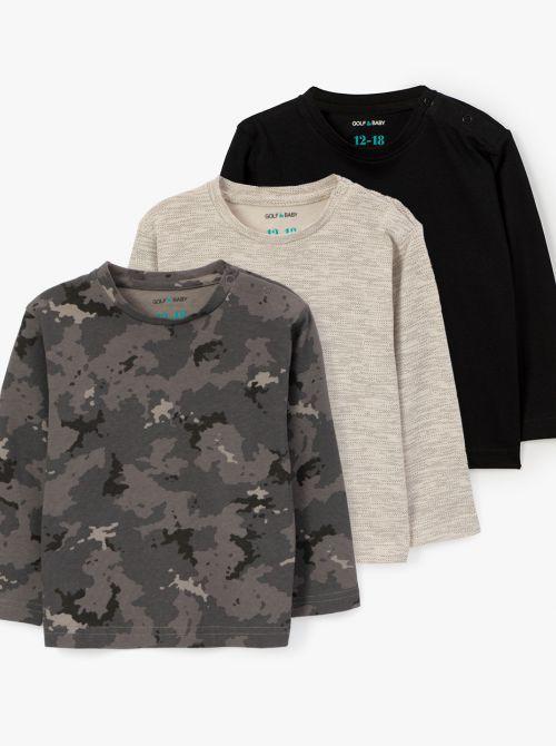 מארז 3 חולצות טי ארמי-בייבי