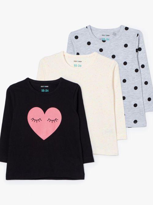 מארז 3 חולצות טי דוט-בייבי