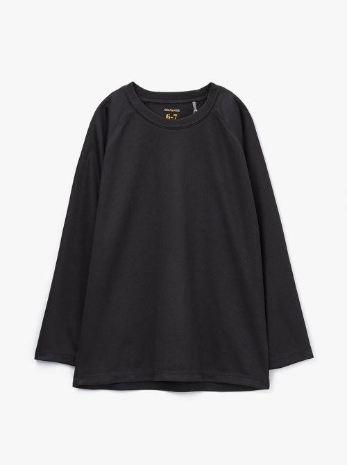חולצת טי שרוול ארוך בד דריי-פיט
