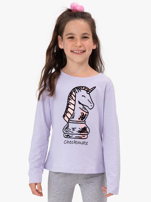 חולצת טי עם דפוסים בהשראת עולם השח מט