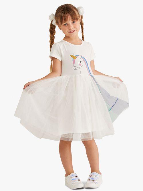 שמלת יוניקורן עם חצאית טוטו