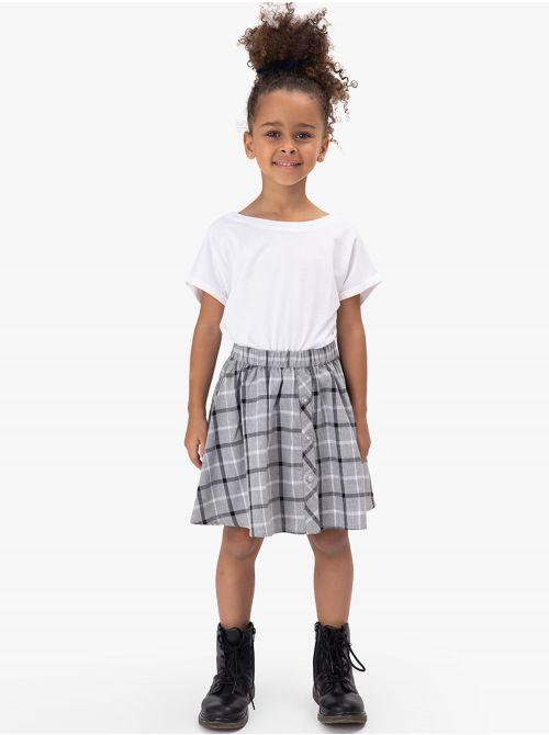 חצאית משבצות קצרה