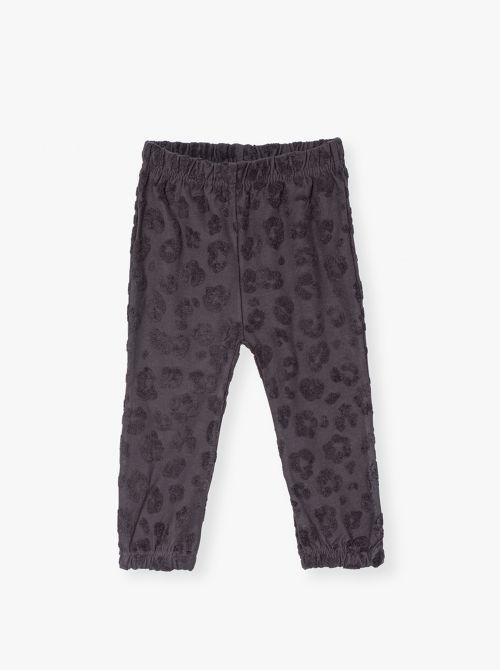 מכנסיים ארוכים מבד ג'קארד