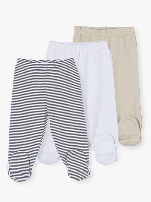מארז 3 מכנסי רגליות נייצ'ר-בייבי