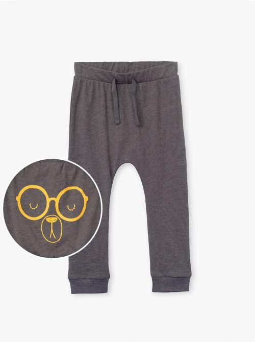מכנסיים דקים ארוכים עם דפוס