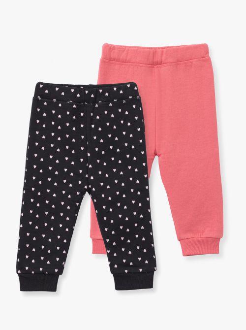 זוג מכנסי פוטר חלק ומודפס