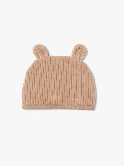 כובע רך מבד קטיפה במראה קורדרוי