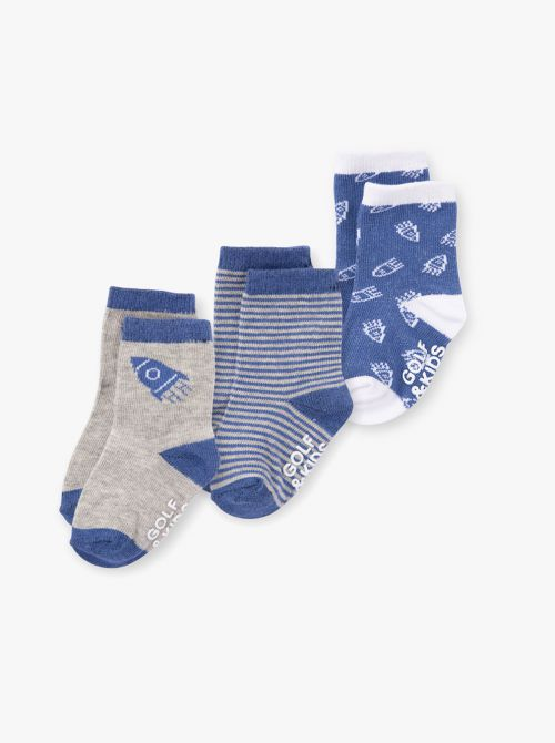 מארז 3 זוגות גרביים בייבי בנים
