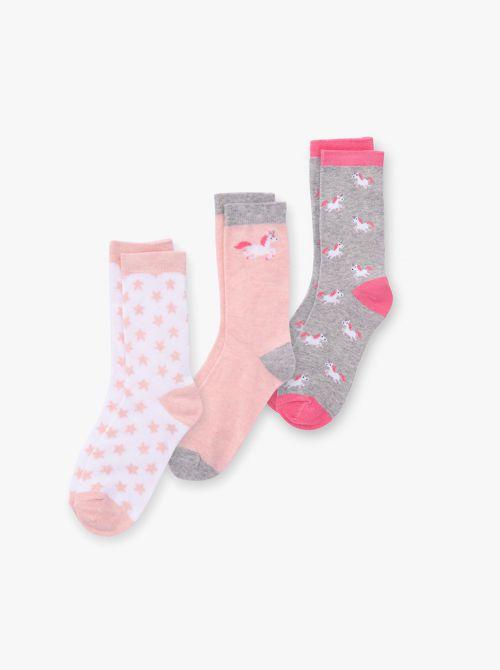 מארז 3 זוגות גרביים בנות