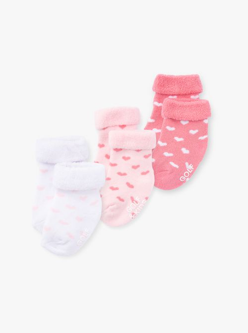 מארז 3 זוגות גרביים בייבי בנות