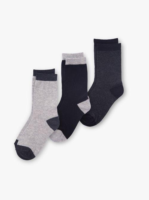 מארז 3 זוגות גרביים חלקות